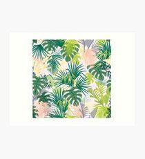 pink jungle pattern Art Print