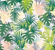 pink jungle pattern by anyuka