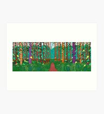 David Hockney the Arrival of Spring Print Art Print