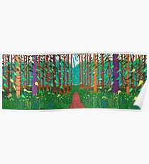 David Hockney the Arrival of Spring Print Poster