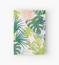 pink jungle pattern Hardcover Journal
