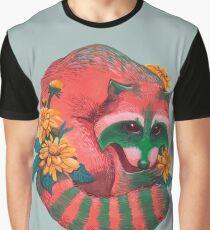 Watermelon Raccoon  Graphic T-Shirt