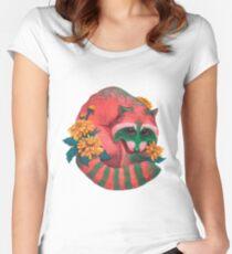 Watermelon Raccoon  Women's Fitted Scoop T-Shirt