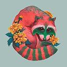 Watermelon Raccoon  by scatterbee