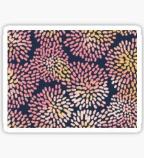 Navy and Pink Watercolor Firework Flowers Sticker