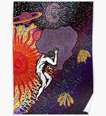 Psychedelic Myth Of Sisyphus Poster