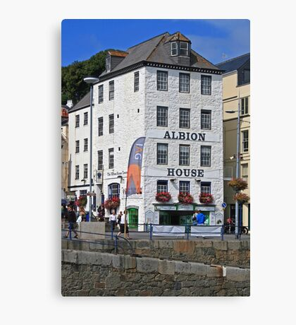 Albion House Tavern, St Peter Port Canvas Print