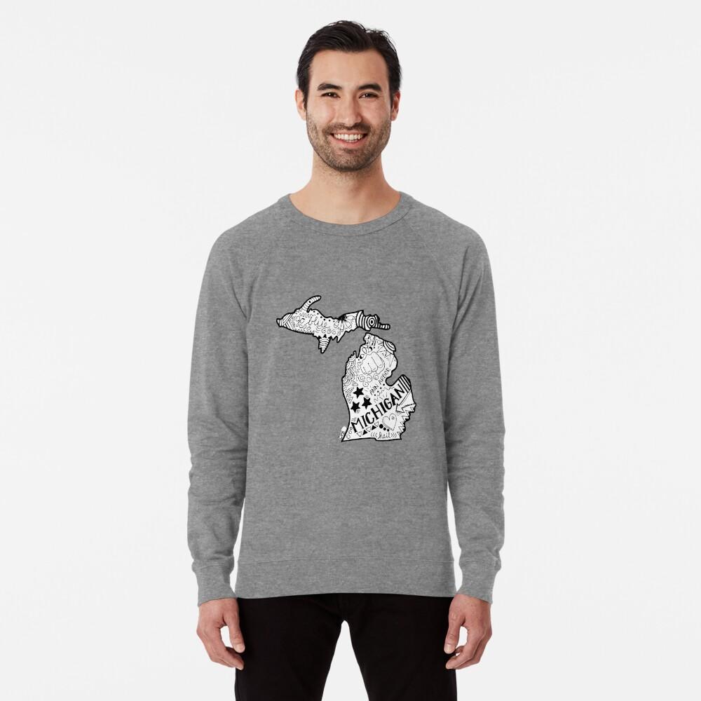 Michigan Gekritzel Leichter Pullover