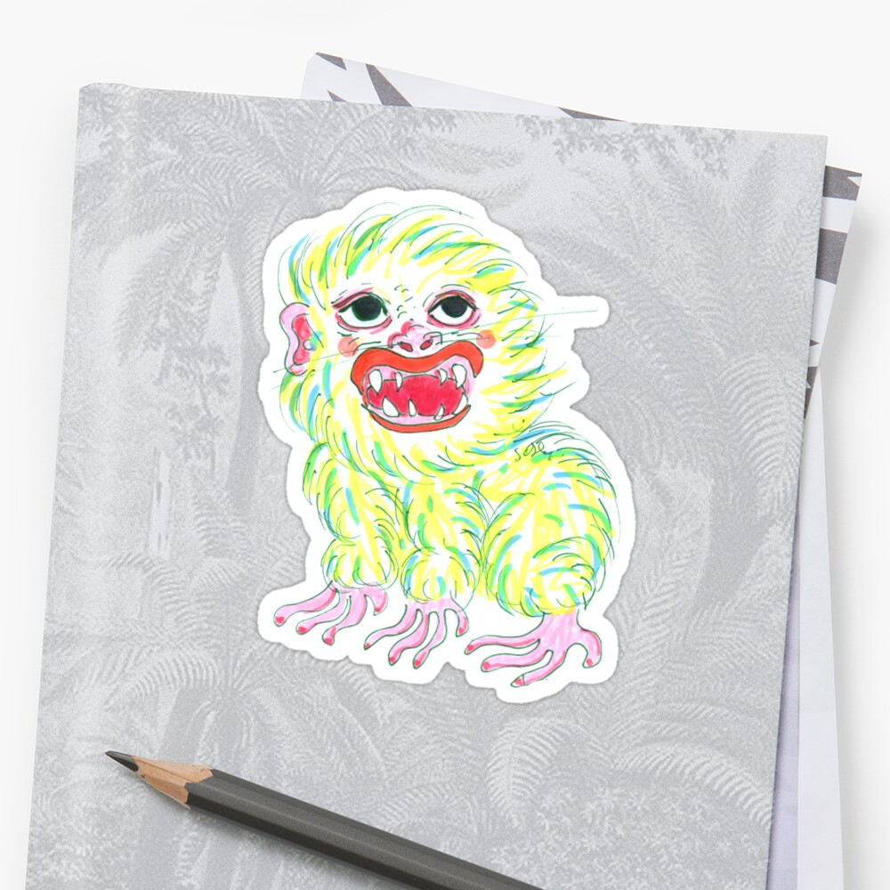 Baby Yeti Little Monster Sticker By Sol Disegni Redbubble