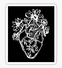 eccentric heart Sticker