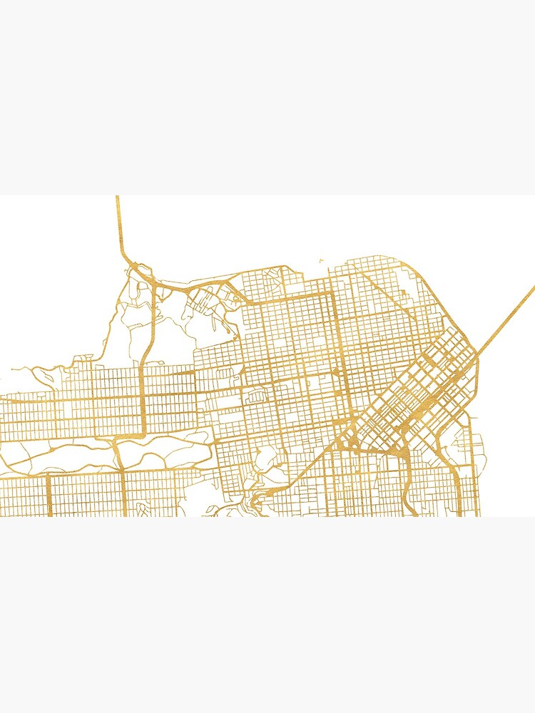 SAN FRANCISCO CALIFORNIA CITY STREET MAP ART von deificusArt
