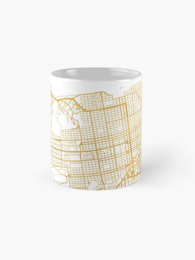 Alternative Ansicht von SAN FRANCISCO CALIFORNIA CITY STREET MAP ART Tassen