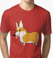 Corgi Puppy Tri-blend T-Shirt
