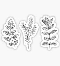 black and white plants Sticker