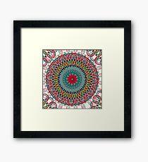 Sunflower Mandala Framed Print