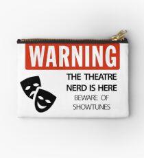 WARNING Theatre Nerd Studio Pouch