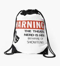 WARNING Theatre Nerd Drawstring Bag