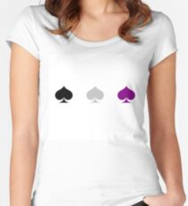 Ace Pride - Spades Women's Fitted Scoop T-Shirt
