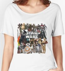 Star Wars Characters Women's Relaxed Fit T-Shirt