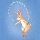 Daisy the rope-skipping playful bunny by EllenLambrichts