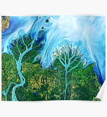 Flowing Waters Gulf of Mexico Poster
