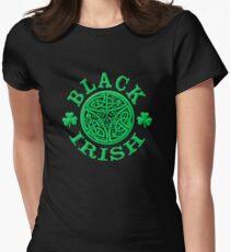 BLACK IRISH with Celtic Art Women's Fitted T-Shirt