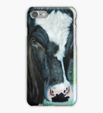 Muddy Fields Cow Painting iPhone Case/Skin