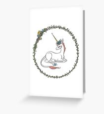 Unicorn Flower Filly Greeting Card