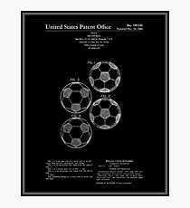 Soccer Ball Patent - Black Photographic Print