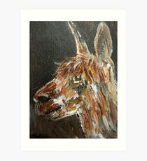 Brown Alpaca Art Print