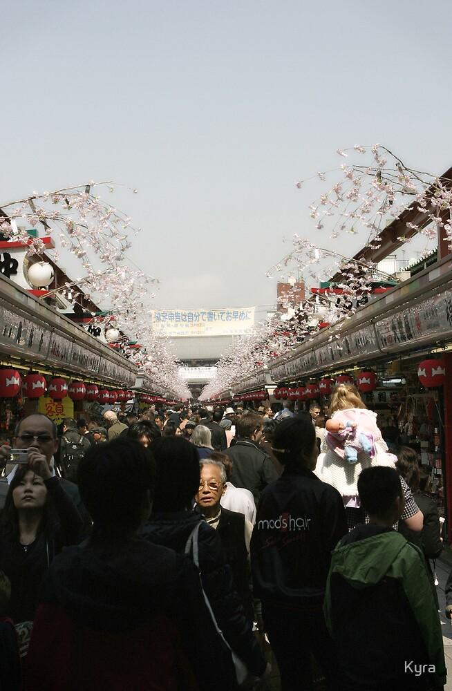 Asakusa crowd by Kyra  Webb