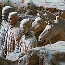 China. Xian. Terracotta Army. Soldiers with Horses. by vadim19