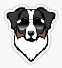 Aussie Black Sunglasses Sticker