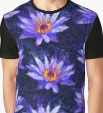 Water Lily Van Gogh Style Graphic T-Shirt