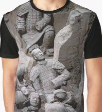 China. Xian. Terracotta Army. Fallen Warriors. Graphic T-Shirt
