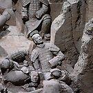 China. Xian. Terracotta Army. Fallen Warriors. by vadim19