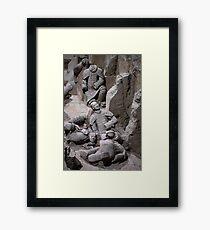 China. Xian. Terracotta Army. Fallen Warriors. Framed Print