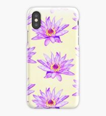 Water Lilies Watercolor Cream iPhone Case/Skin