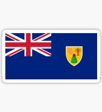 Turks and Caicos Islands Flag Products Sticker