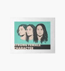 Strong Female Character Art Board