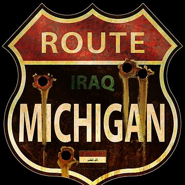 Route Michigan Sign by willblack