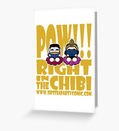 STPC: Pow!!! Right in the Chibi 2.0 Greeting Card