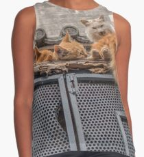 A bunch of cats keep herself warm Contrast Tank