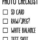 Photographer's Checklist by skollipsism