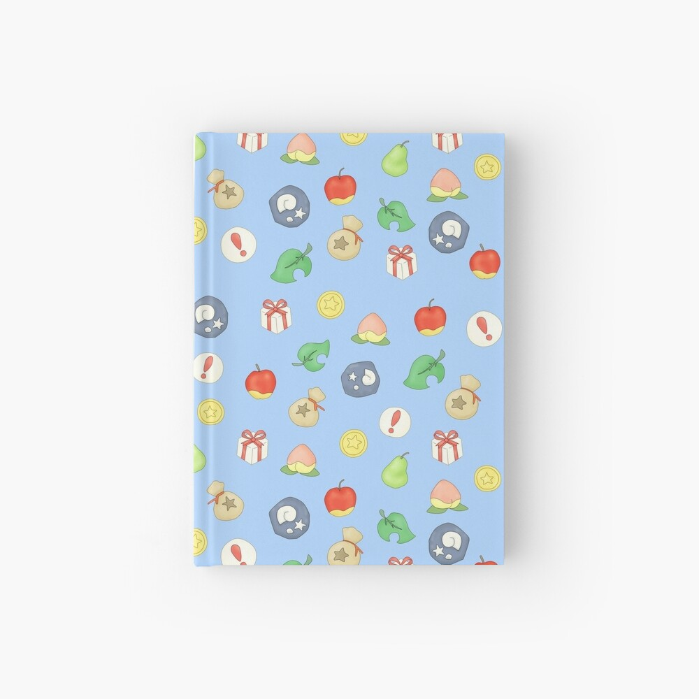 Animal Crossing Logo Pattern Hardcover Journal