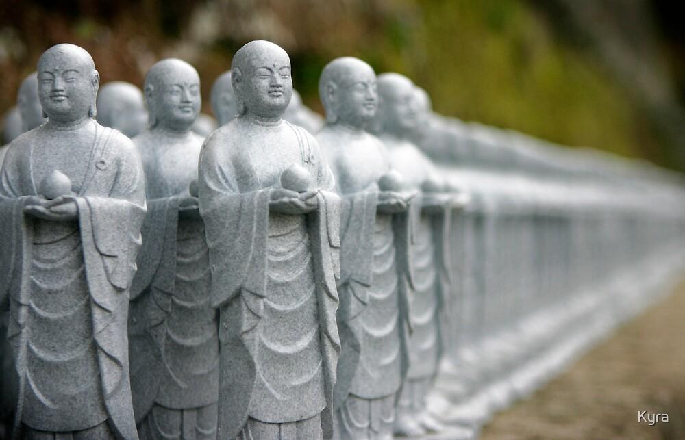 Statuettes in Kamakura by Kyra  Webb