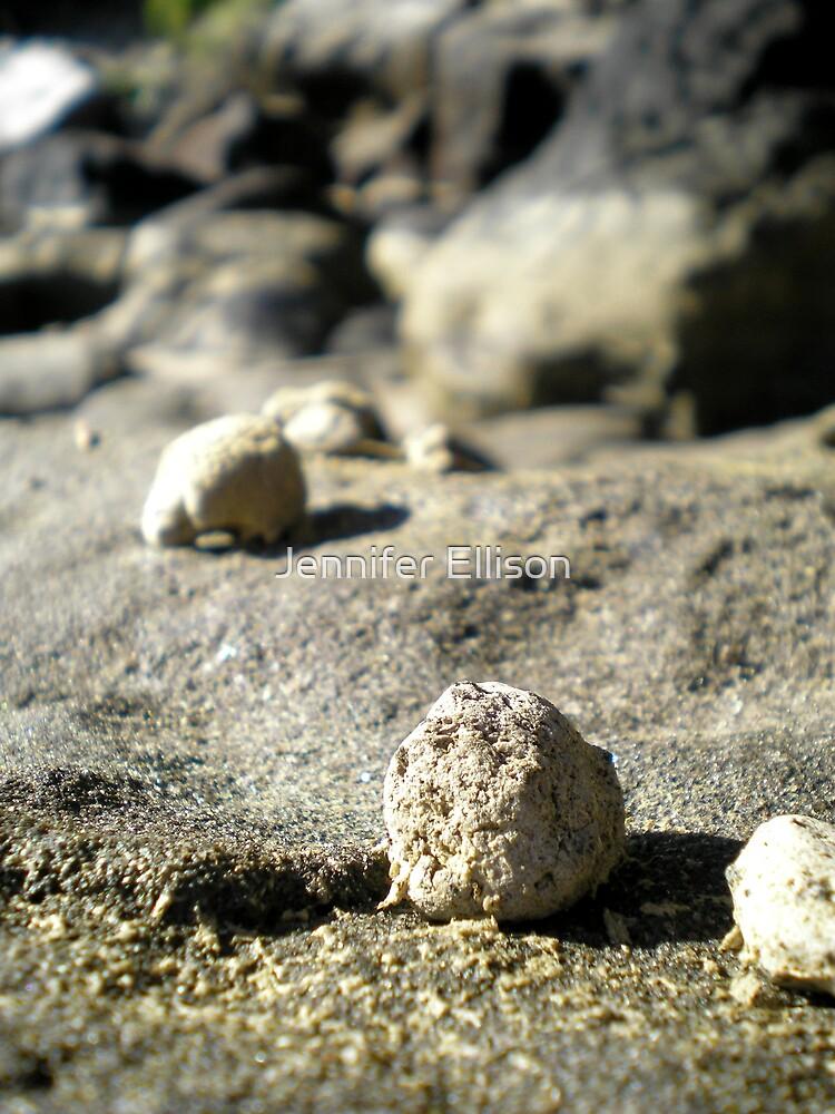Rocks at Currimundi Beach by Jennifer Ellison