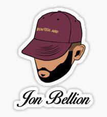 Jon Bellion face beautiful mind with text Sticker