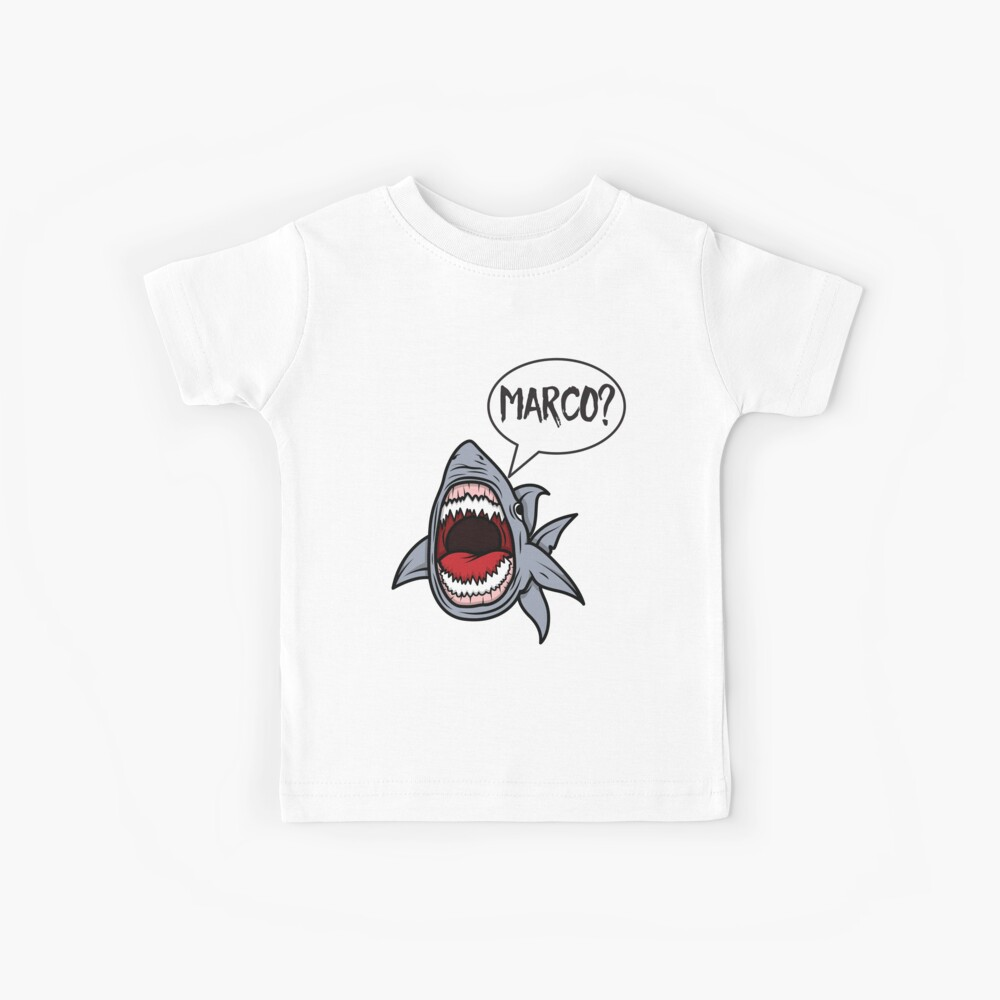 Hungry Shark Playing Marco Polo Kids T-Shirt