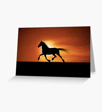 The Running Horse Greeting Card